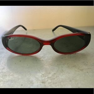 Ray Ban Side Street Sunglasses Italy Red Black
